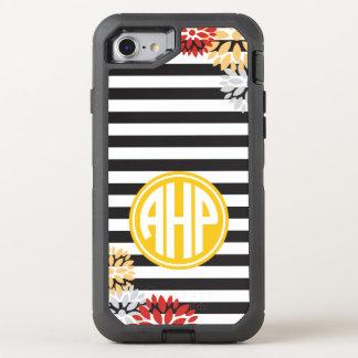 Alpha Eta Rho   Monogram Stripe Pattern OtterBox Defender iPhone 8/7 Case