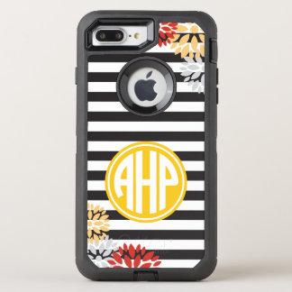 Alpha Eta Rho   Monogram Stripe Pattern OtterBox Defender iPhone 8 Plus/7 Plus Case