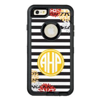 Alpha Eta Rho   Monogram Stripe Pattern OtterBox Defender iPhone Case