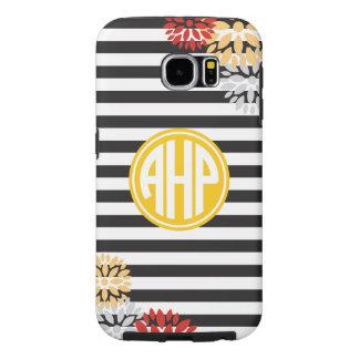 Alpha Eta Rho   Monogram Stripe Pattern Samsung Galaxy S6 Cases