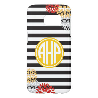 Alpha Eta Rho   Monogram Stripe Pattern Samsung Galaxy S7 Case