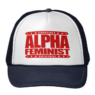 ALPHA FEMINIST - Fight For Right to Succeed, Red Trucker Hat