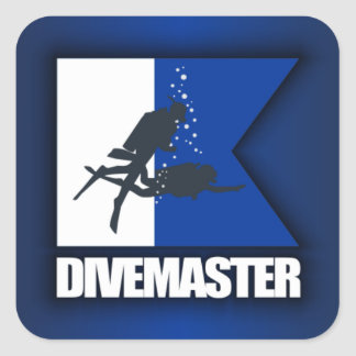 Alpha Flag (Divemaster) Square Sticker