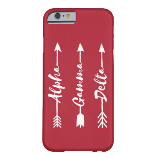 Alpha Gamma Delta Arrow Barely There iPhone 6 Case
