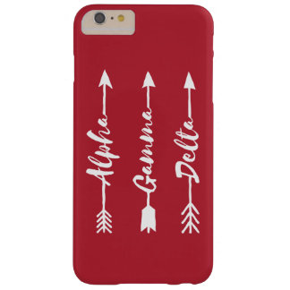 Alpha Gamma Delta Arrow Barely There iPhone 6 Plus Case