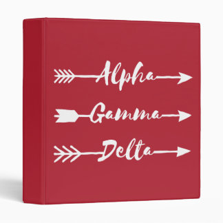 Alpha Gamma Delta Arrow Binder
