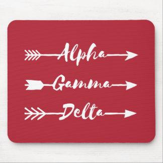Alpha Gamma Delta Arrow Mouse Pad