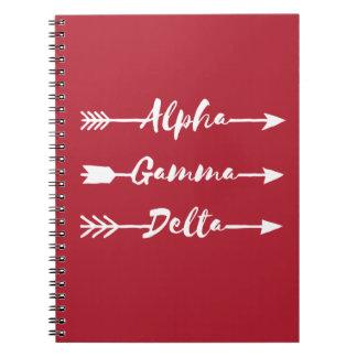 Alpha Gamma Delta Arrow Notebook