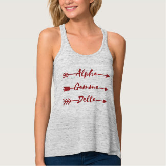 Alpha Gamma Delta Arrow Tank Top