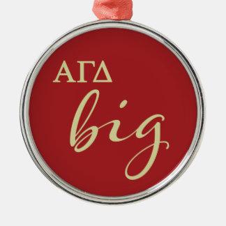 Alpha Gamma Delta Big Script Metal Ornament