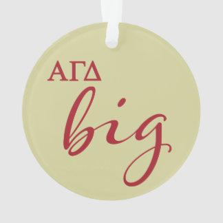 Alpha Gamma Delta Big Script Ornament
