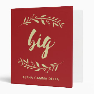 Alpha Gamma Delta Big Wreath Binder