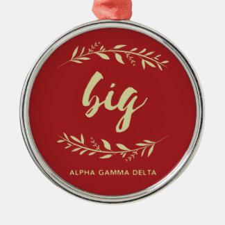 Alpha Gamma Delta Big Wreath Metal Ornament