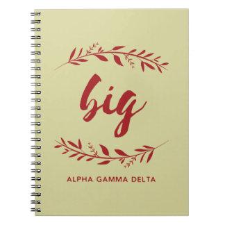 Alpha Gamma Delta Big Wreath Notebook