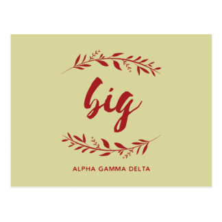 Alpha Gamma Delta Big Wreath Postcard