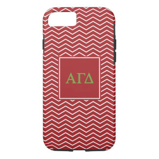 Alpha Gamma Delta | Chevron Pattern iPhone 8/7 Case