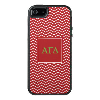 Alpha Gamma Delta | Chevron Pattern OtterBox iPhone 5/5s/SE Case