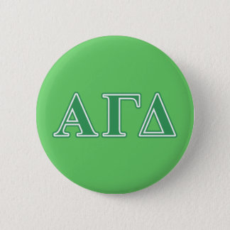 Alpha Gamma Delta Green Letters 2 Inch Round Button