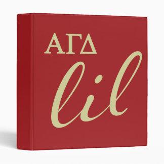 Alpha Gamma Delta Lil Script Binder