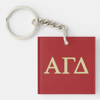 Alpha Gamma Delta Lil Script Keychain
