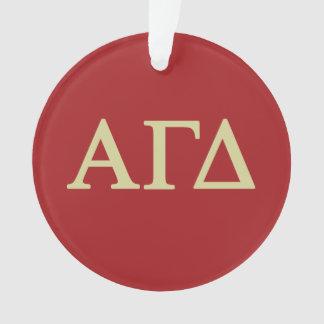 Alpha Gamma Delta Lil Script Ornament