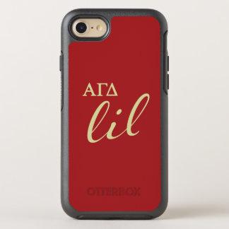 Alpha Gamma Delta Lil Script OtterBox Symmetry iPhone 8/7 Case