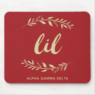Alpha Gamma Delta Lil Wreath Mouse Pad