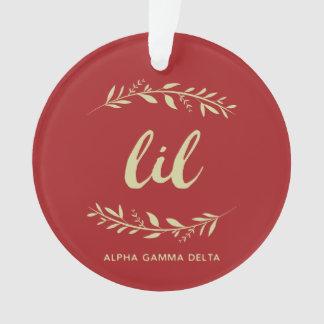 Alpha Gamma Delta Lil Wreath Ornament
