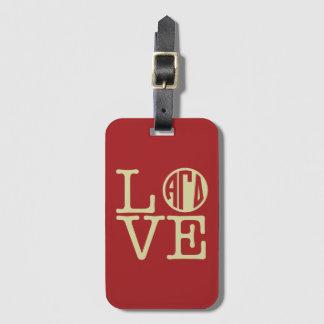 Alpha Gamma Delta Love Luggage Tag