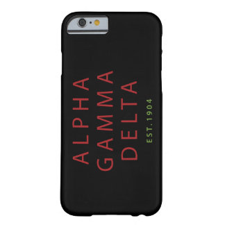 Alpha Gamma Delta Modern Type Barely There iPhone 6 Case