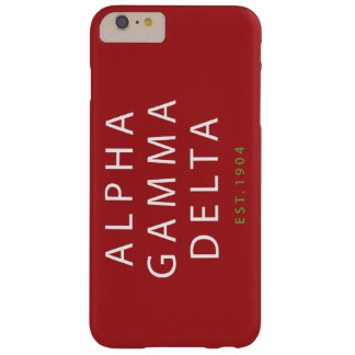 Alpha Gamma Delta Modern Type Barely There iPhone 6 Plus Case