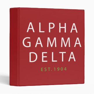 Alpha Gamma Delta Modern Type Binder