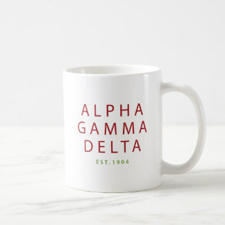 Alpha Gamma Delta Modern Type Coffee Mug