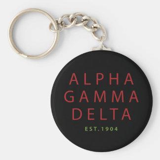 Alpha Gamma Delta Modern Type Keychain