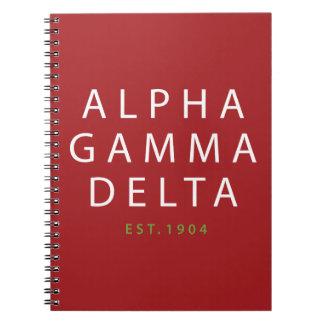 Alpha Gamma Delta Modern Type Notebook