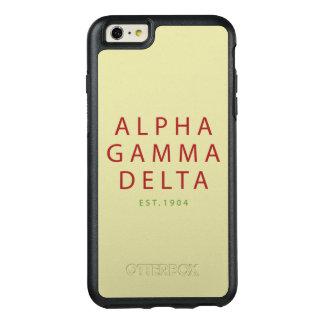 Alpha Gamma Delta Modern Type OtterBox iPhone 6/6s Plus Case