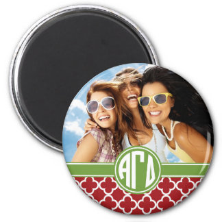 Alpha Gamma Delta | Monogram and Photo Magnet