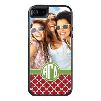 Alpha Gamma Delta | Monogram and Photo OtterBox iPhone 5/5s/SE Case