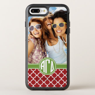 Alpha Gamma Delta | Monogram and Photo OtterBox Symmetry iPhone 8 Plus/7 Plus Case