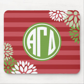 Alpha Gamma Delta | Monogram Stripe Pattern Mouse Pad