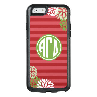 Alpha Gamma Delta | Monogram Stripe Pattern OtterBox iPhone 6/6s Case