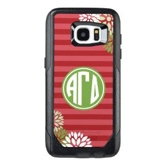 Alpha Gamma Delta   Monogram Stripe Pattern OtterBox Samsung Galaxy S7 Edge Case