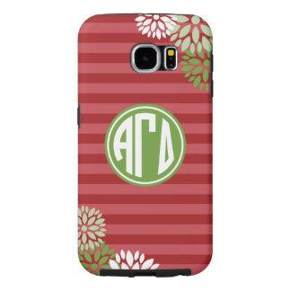 Alpha Gamma Delta | Monogram Stripe Pattern Samsung Galaxy S6 Cases