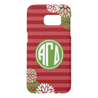 Alpha Gamma Delta | Monogram Stripe Pattern Samsung Galaxy S7 Case