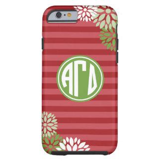 Alpha Gamma Delta   Monogram Stripe Pattern Tough iPhone 6 Case