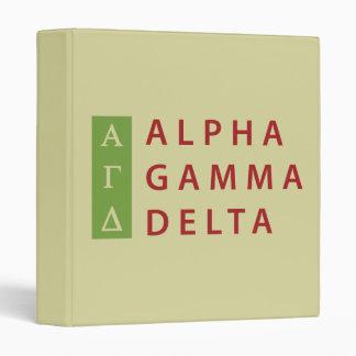 Alpha Gamma Delta Stacked 3 Ring Binder