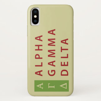 Alpha Gamma Delta Stacked Case-Mate iPhone Case