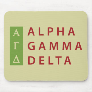 Alpha Gamma Delta Stacked Mouse Pad