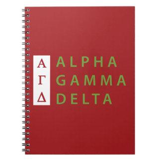 Alpha Gamma Delta Stacked Notebook