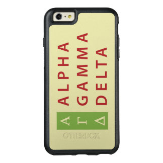 Alpha Gamma Delta Stacked OtterBox iPhone 6/6s Plus Case